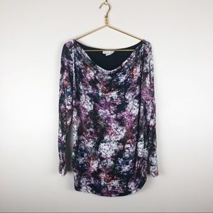 Jessica Simpson Maternity Floral Long Sleeve Shirt